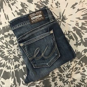 Express jeans size 10 barely boot